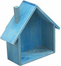 PETSOLA Mini Holz Haus Wandregal Aufbewahrungsbox
