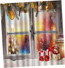 PETSOLA Raumteiler Vorhang Gardine Weihnachten