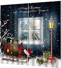 PETSOLA Weihnachten Schal Gardine Vorhang