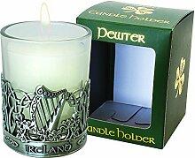 Pewter Candle Holder - Harp