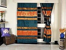 Pfau Design indischen Vorhänge für Schlafzimmer 107x 216cm