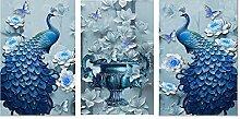 Pfau Diamant Malerei 5D DIY Chinesisch Stil Voll