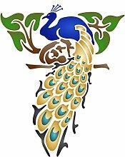 Pfau Schablone-wiederverwendbar Bird Animal