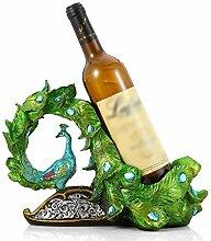 Pfau Wein Flasche Rack Dekorationen, Kreativer