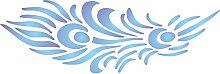Pfauenfeder Schablone-wiederverwendbar Vogel