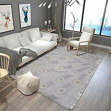 Pfauenfeder Teppich Wohnzimmer Küche Schlafzimmer lange saugfähigen Fuß Bad Badematte , 5 , 180x230cm