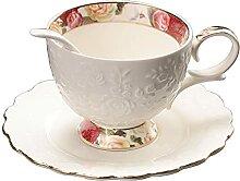 Pfedxoon Porzellan Kaffeebecher und Untertasse