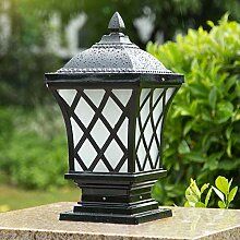 Pfeilerlampe Retro Sockelleuchten Schwarz Antik