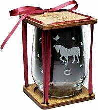 Pferd 360Grad Gravur Weinglas Weingläser ohne