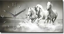 Pferd Designer Funk Wanduhr Funkuhr modernes Design * Made in Germany* WA130F