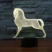 Pferd Fernbedienung 7 Lampe 3d Bunte TouchLed
