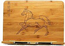Pferd Leseständer Kochbuchhalter aus Holz Bambus