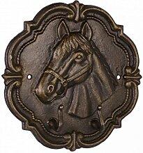 Pferd Pferdekopf Türhaken Kleiderhaken Garderobenhaken Gusseisen Tier Nostalgie