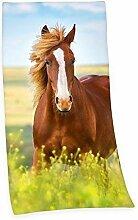 Pferd Pony BADETUCH SAUNA HANDTUCH VELOURUCH 75 x