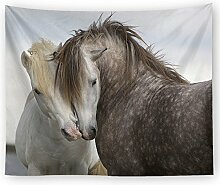 Pferd Tier Wandteppich Wandbehang Natur Landschaft