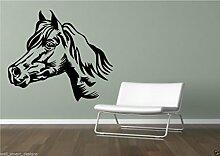 Pferd Wand Sticker Kunst Aufkleber Transfer Kinder Stempel Vinyl Wand Dekoration - M, Türkis Blau Glanz