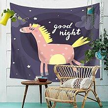 Pferd Wandteppich Karikatur Tiere Wandbehang