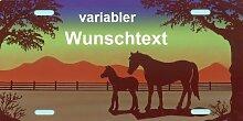 Pferde Schild mit Namen und Text selbst gestalten