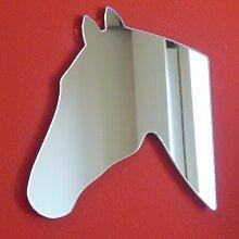 Pferdekopf Silhouette Spiegel 35cm x 30cm