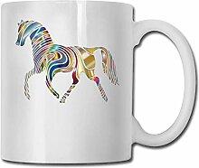 Pferdemode-Kaffeetasse-Porzellan-Becher