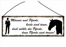 """Pferdeschild -Türschild Vintage Schild Dekoschild Wandschild Tierschild Holzschild Geschenk Pferd - """"Männer und Pferde..."""