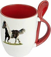 Pferdetasse Tinker - Löffel-Tasse mit Pferdebild