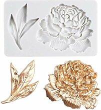 Pfingstrose Blumenblatt Kuchen Stempeln Form