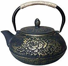 Pfingstrose Gusseiserner Topf Roheisen Teekanne