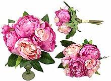 Pfingstrosen Bund 32 cm Seidenblumen Kunstblumen 9