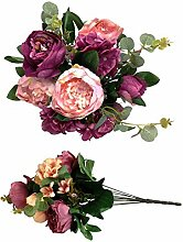 Pfingstrosen Bund 52 cm Seidenblumen Kunstblumen