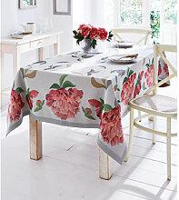 Pfingstrosen-Tischdecke: Florale Tischwäsche aus