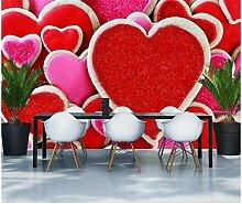 Pfirsich Herz Rot Süßigkeiten Snack Shop Tapete