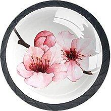 Pfirsichblütenfrühling, 4Pack ABS Kommode