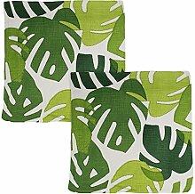 Pfister Zierkissenhülle mit Palmen-Blatt-Motiv