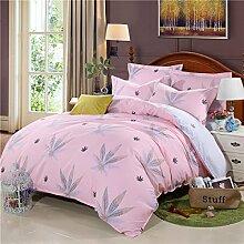 Pflanze Baumwolle Kaschmir Dicker Kaschmir Baumwolle Lange Tätigkeit Eine Vierköpfige Familie Bettwäsche,Eleganceautumnleaves-size1
