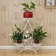 Pflanze Bodenständer Balkon Pflanze Display Stand, Boden Stil Blume Regal, Eisen Blume Rack, Multifunktions-Balkon Regal Stand Outdoor Plants anzeigen ( Farbe : B )