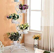 Pflanze Bodenständer Eisen Blumengestell Wohnzimmer Innenboden Mehrgeschossige Blumenregal Balkon Grünpflanze Bonsai Rahmen Stand Outdoor Plants anzeigen
