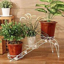 Pflanze Bodenständer Eisen Blumenrahmen Boden - Stil Multi - Layer - Leiter Blumentopf Regal Wohnzimmer Innen - und weißen weißen Blütenstand Stand Outdoor Plants anzeigen