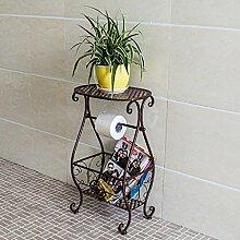 Pflanze Bodenständer Eisen-Blumenständer Mehrzweck-Regale Wohnzimmer-Stauraum Stand Outdoor Plants anzeigen