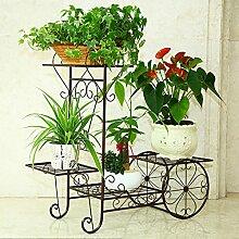 Pflanze Bodenständer Eisenblumenregale mehrstöckige Innenbalkon Wohnzimmer Boden Blumenrahmen Blumentöpfe grüne Radix Orchidee stehen Stand Outdoor Plants anzeigen ( größe : 57*20*56cm )