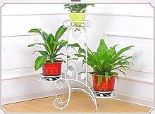 Pflanze Bodenständer Eisenblumenständer Mehrgeschossiger Balkon Regal Wohnzimmer Blumentöpfe Grünpflanze Display Stand Stand Outdoor Plants anzeigen