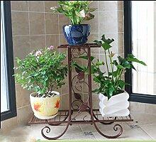 Pflanze Bodenständer Europäischer Stil Blumenrahmen Balkon Wohnzimmer Boden Boden Stil Blume Regal grün Pflanze Display Stand Stand Outdoor Plants anzeigen