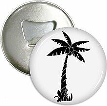 Pflanze Coconut Tree schwarz Silhouette rund