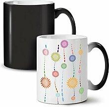 Pflanze Cool Design Mode Schwarz Farbwechsel Tee