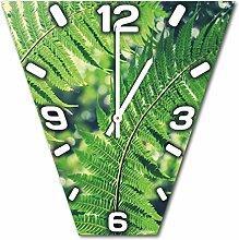 Pflanze, Design Wanduhr aus Alu Dibond zum Aufhängen, 30 cm Durchmesser, schmale Zeiger, schöne und moderne Wand Dekoration, mit qualitativem Quartz Uhrwerk