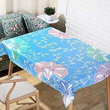 Pflanze Druck Tischdecke Leinen Rechteck Küche Dekorateur Tischdecken , d , 140*200cm