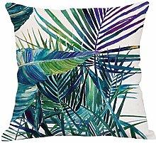 Pflanze Kissenbezug Leinen Auto Sofa Büro Wohnzimmer Dekoration Kissenbezug (Kissenbezüge Set Mit 2 Stück),B