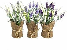 Pflanze Lavendel Künstliche Gewebe, Natürliche für Dekoration - Weiß