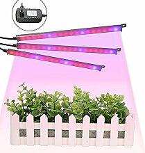 Pflanze Licht,GLIME 9.6W LED Pflanzenlampe LED Grow Lampe Pflanzenleuchte LED Grow Licht Pflanzenlicht Wachstumslampe für Gewächshaus Grow Box Treibhaus Zimmerpflanzen Gemüse und Blumen Color