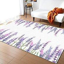 Pflanze Lila Lavendel Bodenmatte Aquarell Malerei